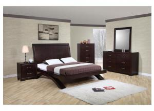 RAVEN CONTEMPORARY QUEEN PLATFORM BED BY ELEMENTS INTERNATIONAL,Elements International